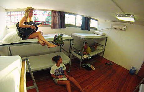 overstay tel aviv hostel dorm room image